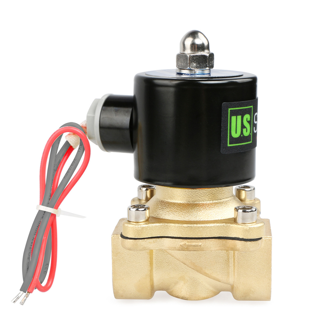 "3/4"" Brass Electric Solenoid Valve 24V AC Normally Closed VITON"