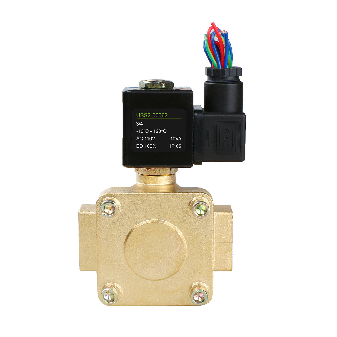 Air Water Fuel VITON 1//4 Brass Electric Solenoid Valve 110V AC N.C