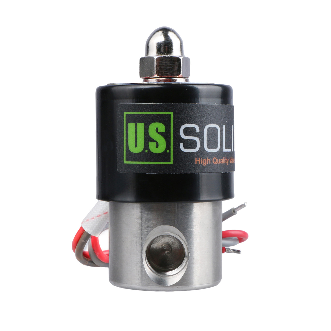 """U.S. Solid Electric Solenoid Valve- 1/4"""" 24V AC Solenoid Valve Stainless Steel Body Normally Closed, VITON SEAL"""