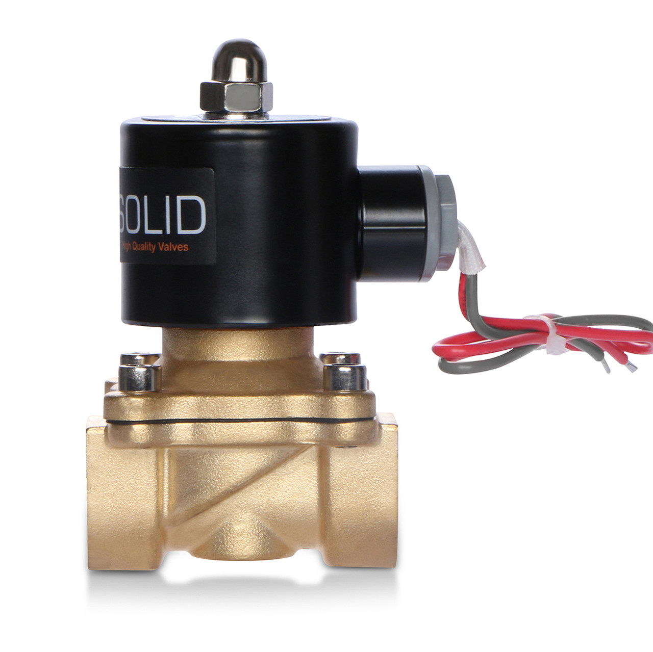 "1/2"" Brass Electric Solenoid Valve 24V AC Air Water NBR Normally Closed"