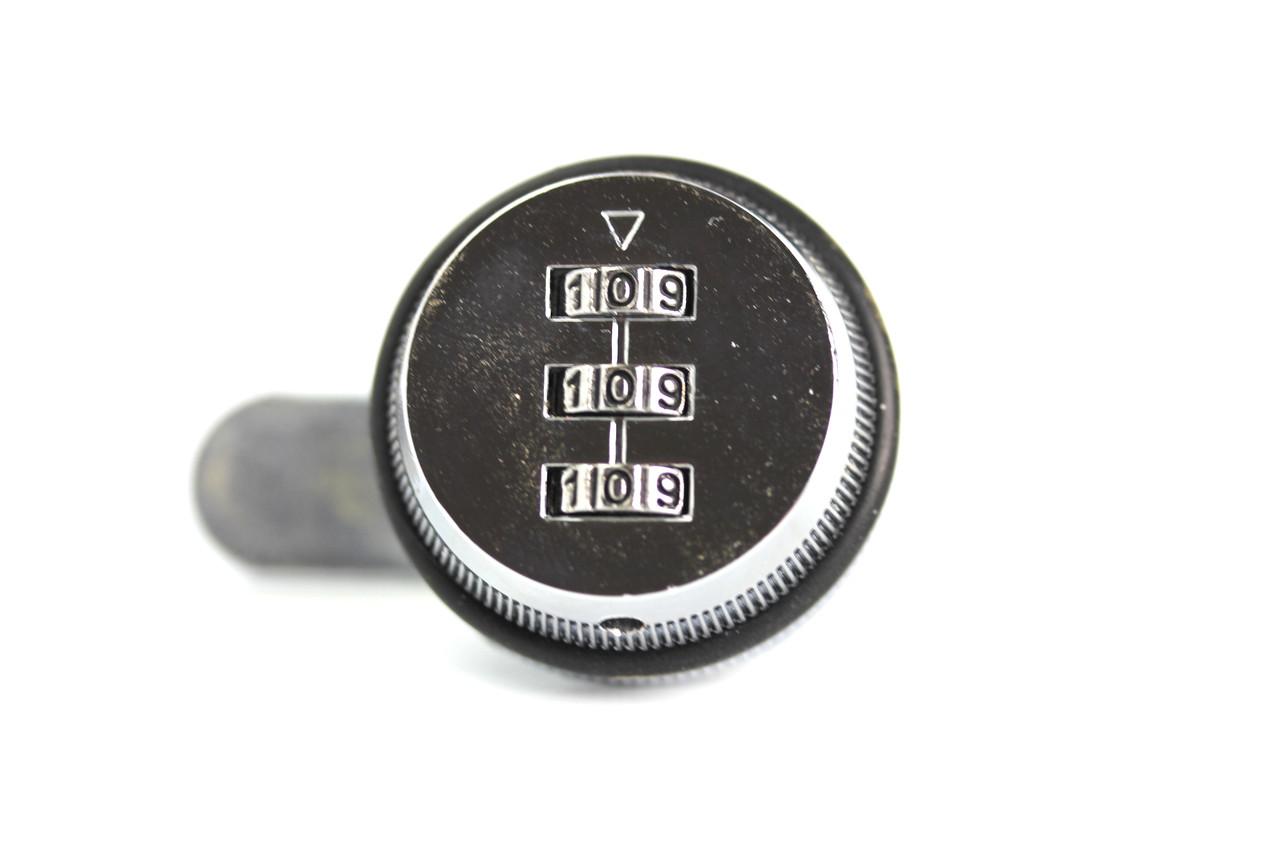 "3 Digit Cam Lock- 5/8"" Chrome Com Lock, With Custom Pin"