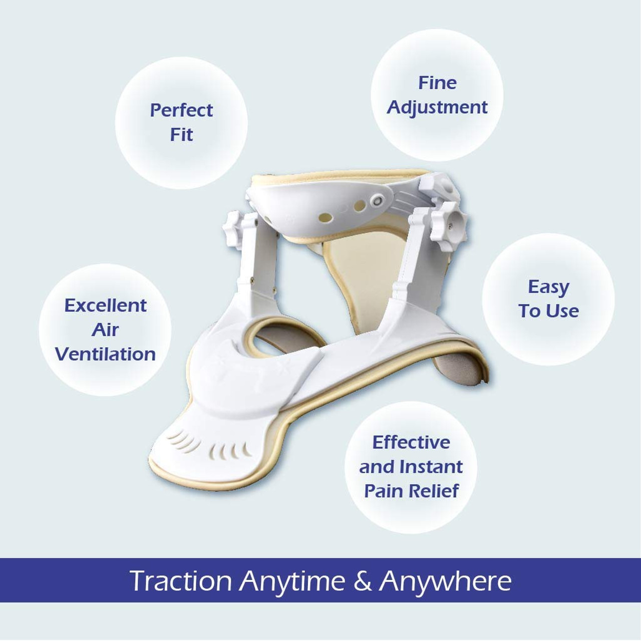 Cervical Neck Traction Device- Cervical Traction Unit for Home Use and Decompression(S/M)