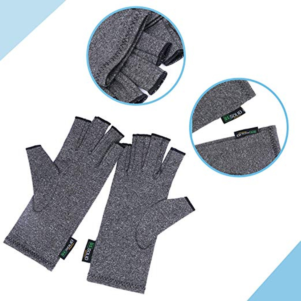 "Compression Gloves- Relieve Arthritis Pain, Medium (Dia. of palm < 3.5"")"