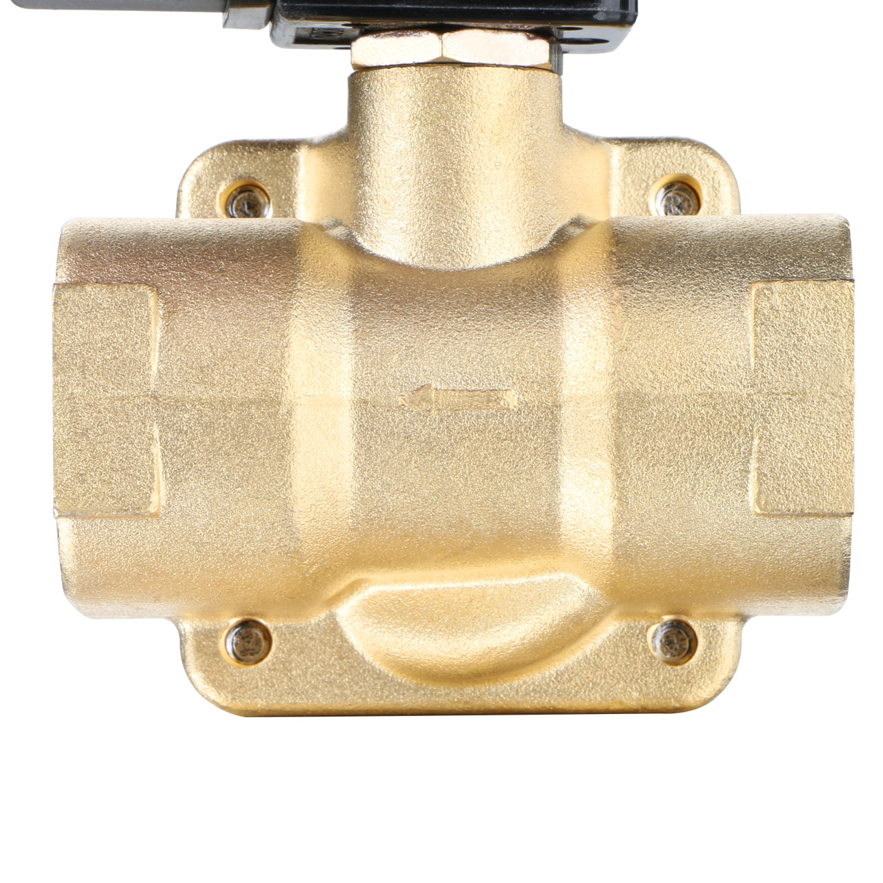 "U.S. Solid Electric Solenoid Valve- 1"" 12V DC 230PSI Solenoid Valve Brass Body Normally Closed, VITON SEAL"