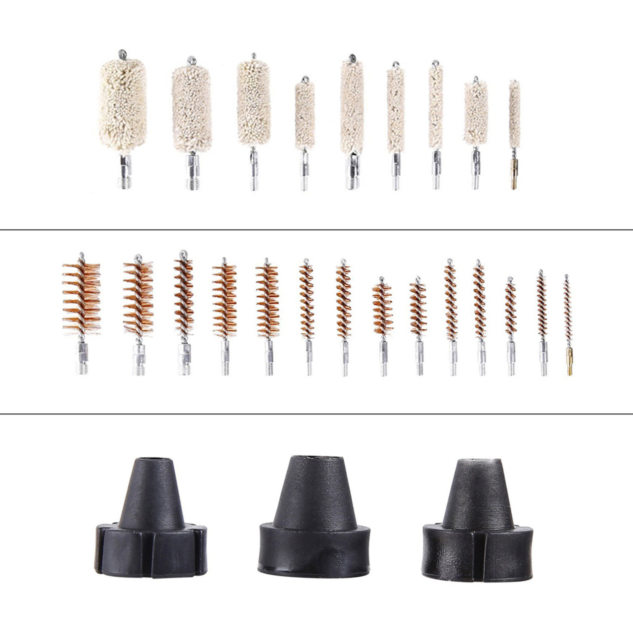 U.S. Solid Gun Cleaning Kit- Universal Gun Cleaner Tools for Rifle Pistol Shotgun 9mm, 163pcs