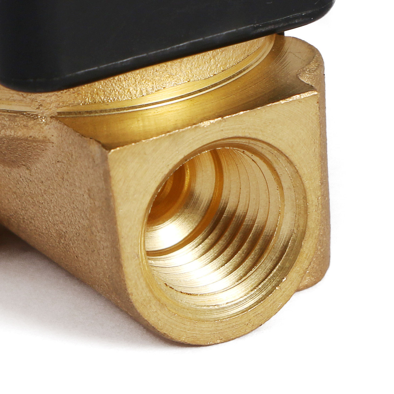 """U.S. Solid 1/4"""" Brass Electric Solenoid Valve 12V DC Normally Closed VITON Air Water Oil Fuel"""