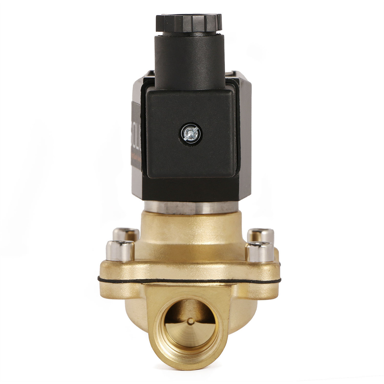 """U.S. Solid 1/2"""" Brass Electric Solenoid Valve 12V DC Normally Closed VITON Air Water Oil Fuel"""