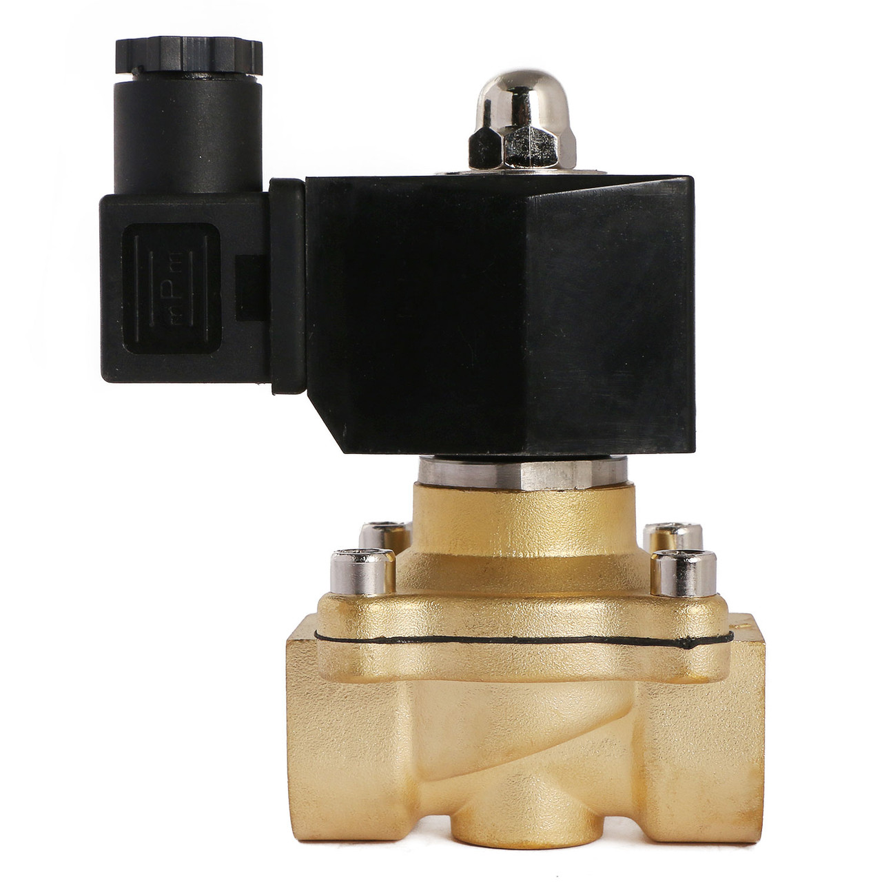 """U.S. Solid 3/4"""" Brass Electric Solenoid Valve 12V DC Normally Closed VITON Air Water Oil Fuel"""