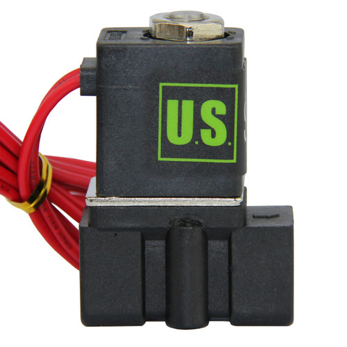 "USSOLID Electric Solenoid Valve- 1/4"" 110V AC Solenoid Valve Plastic(Nylon) Body Normally Closed, NBR SEAL"