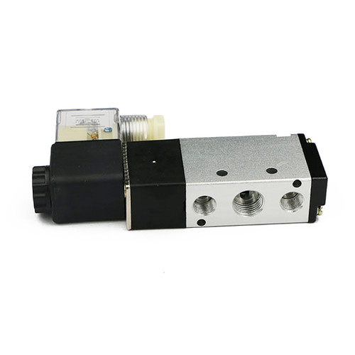 "USSOLID 1/4"" 5 way 2 Position Pneumatic Electric Solenoid Valve DC 12 V"