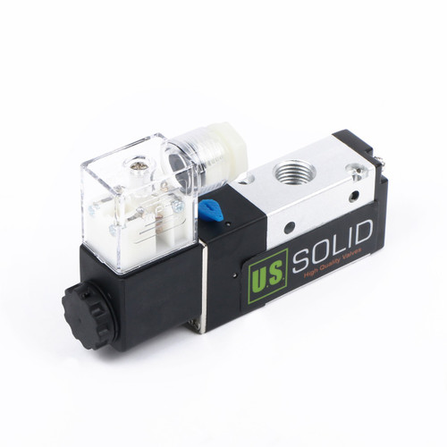 "U.S. Solid 1/4"" 3 Way 2 Position Pneumatic Electric Solenoid Valve DC 12 V"
