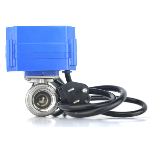 "U.S. Solid Motorized Ball Valve- 1/2"" Stainless Steel Electrical Ball Valve with Full Port, 110 V AC, 2 Wire Auto Return"