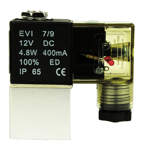 "1/4"" NPT 2 Way 2 Position Pneumatic Electric Solenoid Valve DC 12V, Normally Closed"