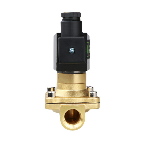 "USSOLID Electric Solenoid Valve- 1/2"" 12V DC Solenoid Valve Brass Body Normally Open, NBR SEAL"