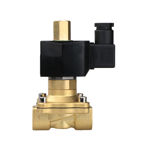 "USSOLID Electric Solenoid Valve- 1/2"" 110V AC Solenoid Valve Brass Body Normally Open, NBR SEAL"