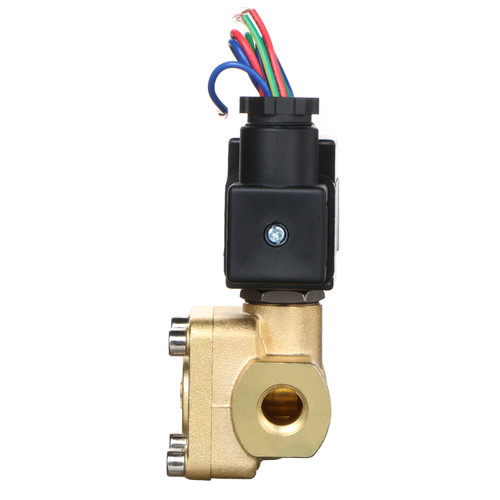 "U.S. Solid Electric Solenoid Valve- 1/4"" 12V DC 230PSI Solenoid Valve Brass Body Normally Closed, VITON SEAL"