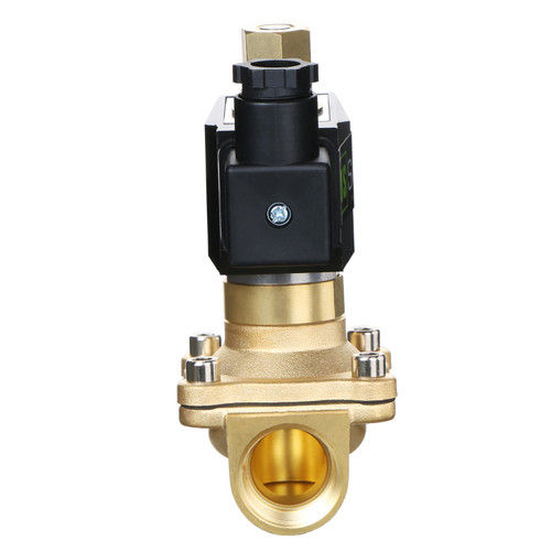 "USSOLID Electric Solenoid Valve- 3/4"" 110V AC Solenoid Valve Brass Body Normally Open, VITON SEAL"