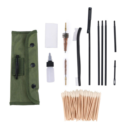 U.S. Solid Gun Cleaning Kit- Universal Gun Cleaner Supplies for M16 AR-15 Rifles, .223/.22cal 5.56mm, 13pcs