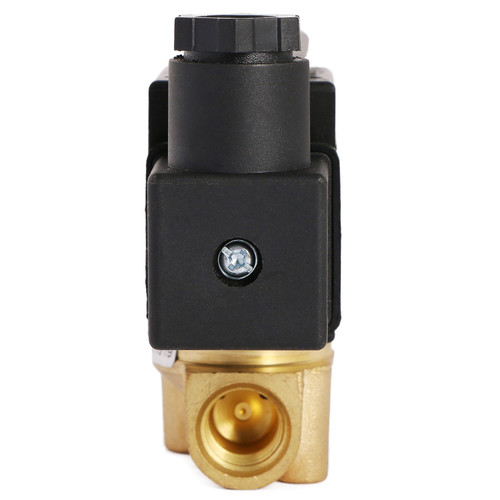 "U.S. Solid 1/4"" Brass Electric Solenoid Valve 12V DC Normally Closed VITON Air Water Oil Fuel"
