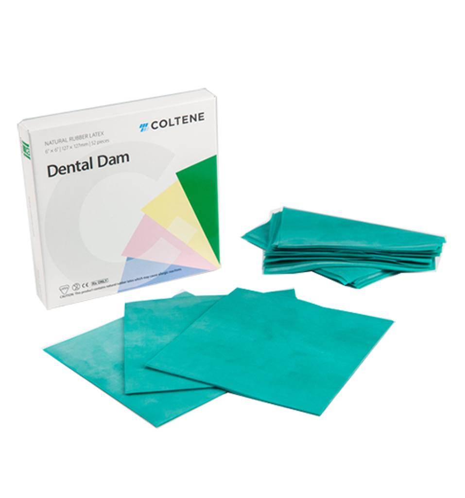 """Hygenic Latex Dental Dam - Adult, Ready Cut, 6"""" x 6"""", 36/Box"""