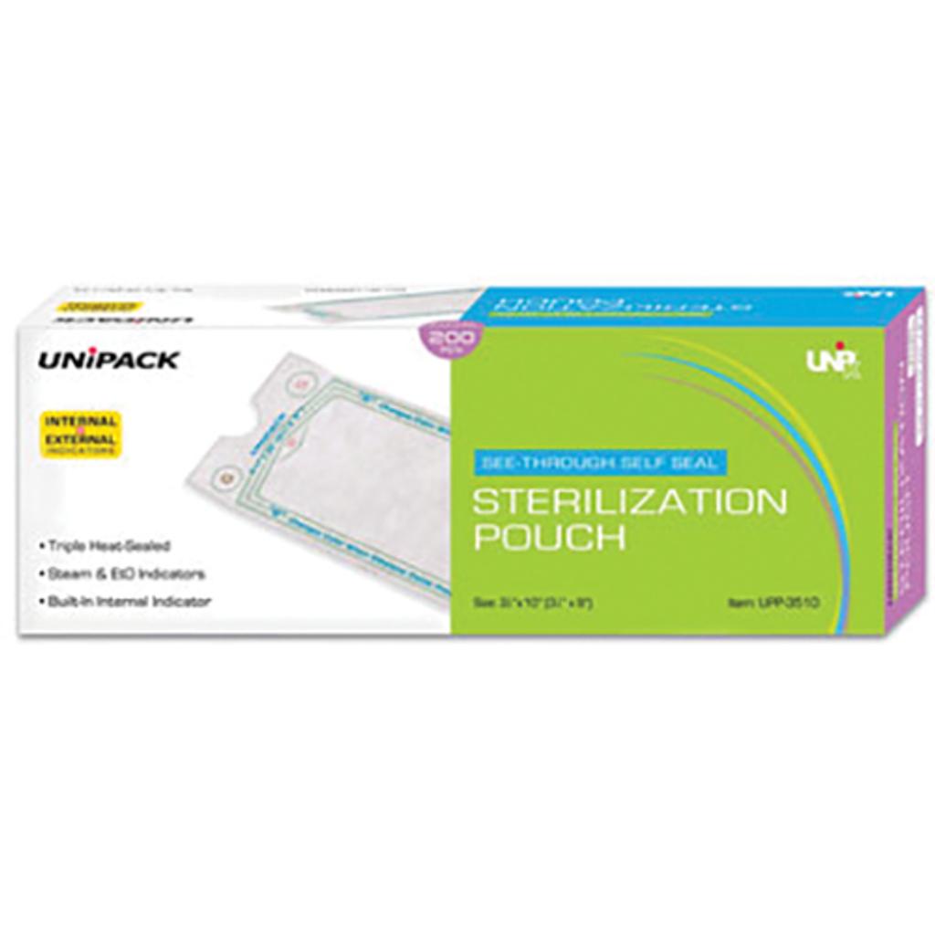 Sterilization Pouches Class 4 -  2-3/4in X 10in (200 pcs/bag)