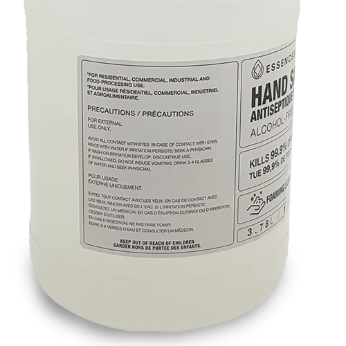 Made in Canada ALCOHOL FREE Hand Sanitizer 1 Gallon (3.78 L)