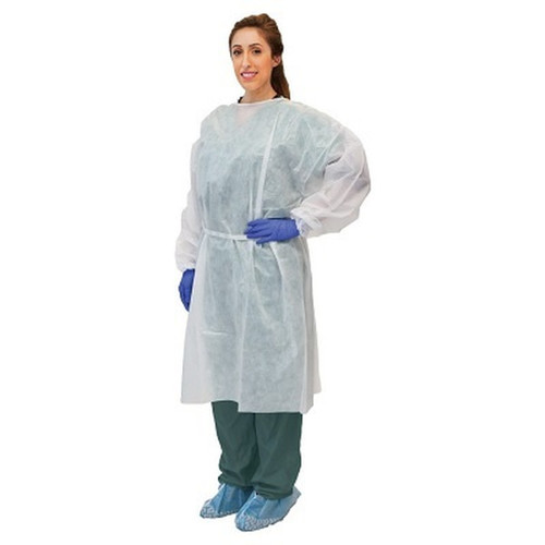 Disposable White Isolation Gowns *** 10/Pk ****