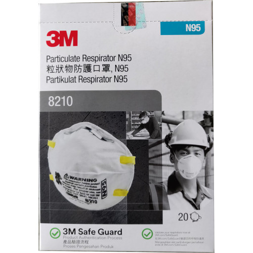 Genuine 3M N95 Masks #8210 *** 20/Pack ****
