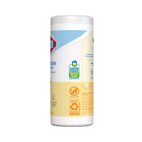 Clorox Compostable Wipes , Lemon. ***35/Can***