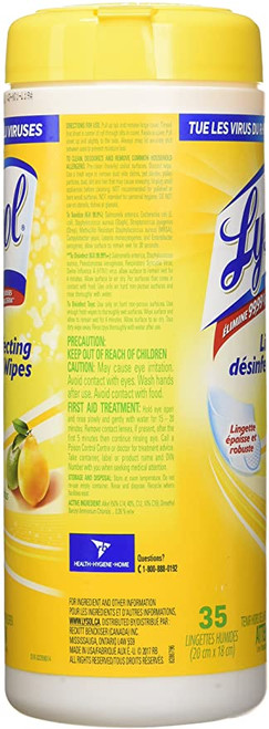 Lysol Antibacterial Wipes Citrus 35/Can