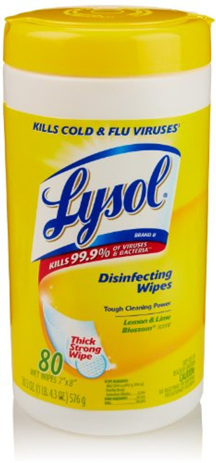 Case of 6 Lysol Disinfecting Wipes, 80/Can. Citrus