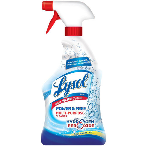 Lysol Bleach Free Hydrogen disinfectant Spray + 2 Rolls Of 85 Towels
