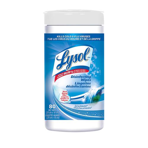 Case Of 6 Lysol Disinfecting Wipes, 80/Can. Spring Waterfall