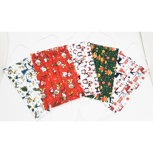Christmas Designs Disposable 3-Ply Kids Masks - 10/Pk