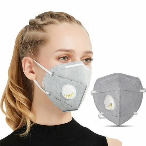 Grey KN95 Respiratory Masks 10/Box ** WITH VALVE ***