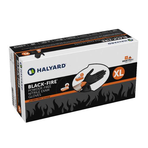 Medical Grade Halyard Black Nitrile Gloves Size XL  *** 140/Pcs ****