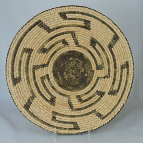Mid Century Pima Indian Willow Basket Tray