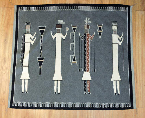 NIghtway Chant Navajo Indian Yei Rug