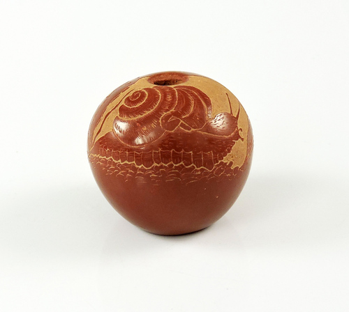 Joseph Lonewolf Sgrafitto Pottery Snail Published