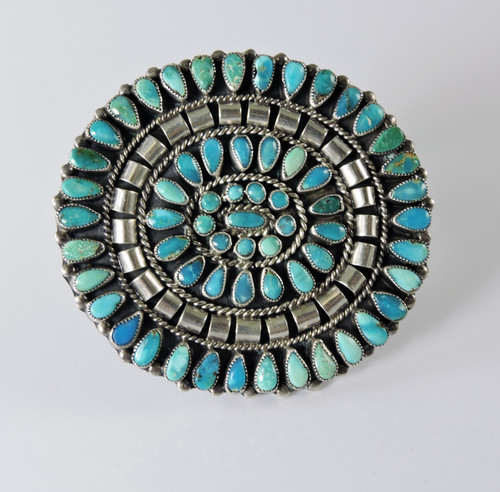 Navajo Turquoise Cluster Pin by JMB