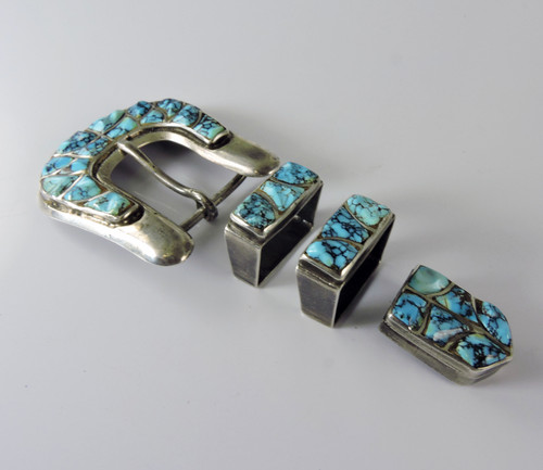 Vintage Ranger Buckle Set With #8 Turquoise