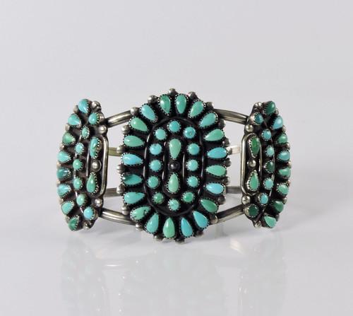 Zuni Turquoise Clusters Bracelet