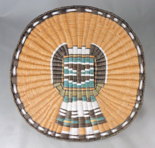 Hopi Third Mesa Wicker Crow Mother Kachina Plaque