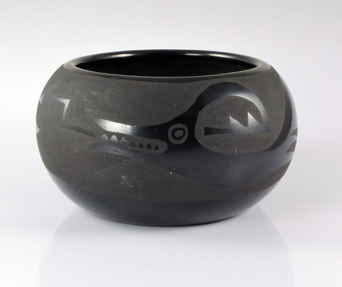 Black on Black Avanyu Pottery by Nicolasa Naranjo