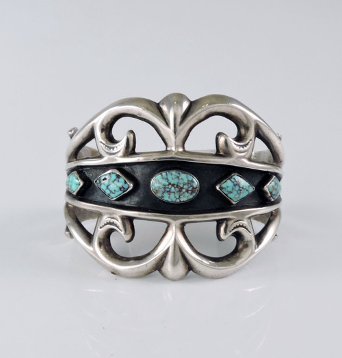 Valley Blue Turquoise in Tufa Cast Bracelet