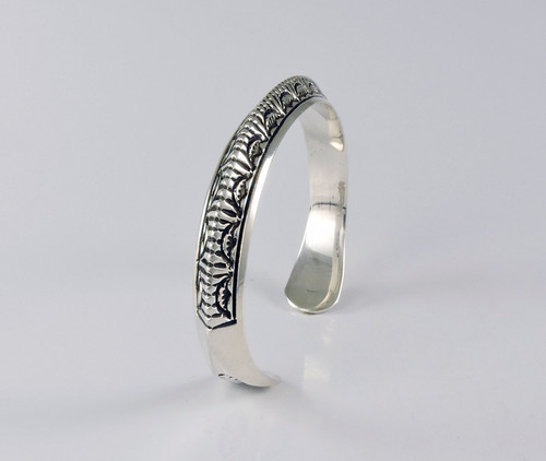 Abundance Silver Cuff by Lyle Secatero