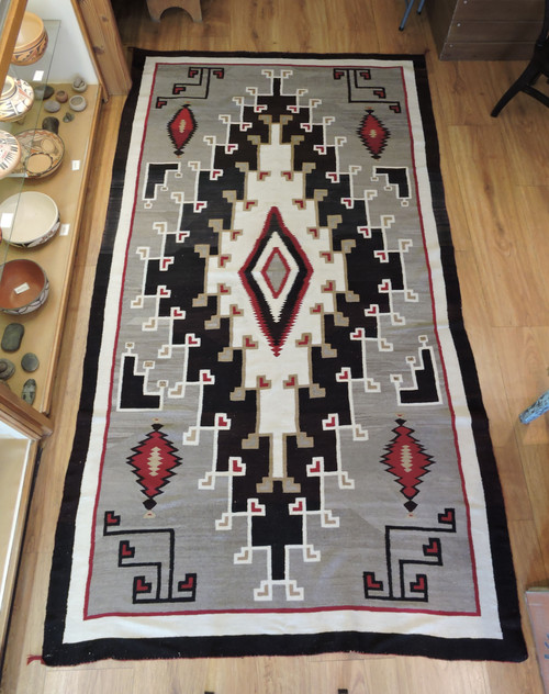Large Navajo Crystal Floor Rug with Yei