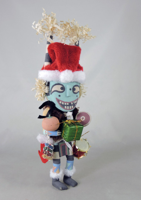 Traditional Style Koyala Santa Kachina by Larry Melendez