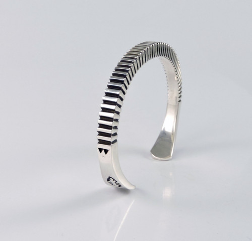 Blessings Silver Cuff Bracelet Lyle Secatero