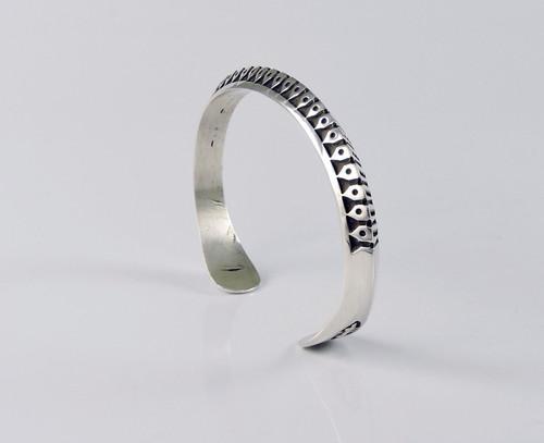 Protection Silver Bracelet by Lyle Secatero
